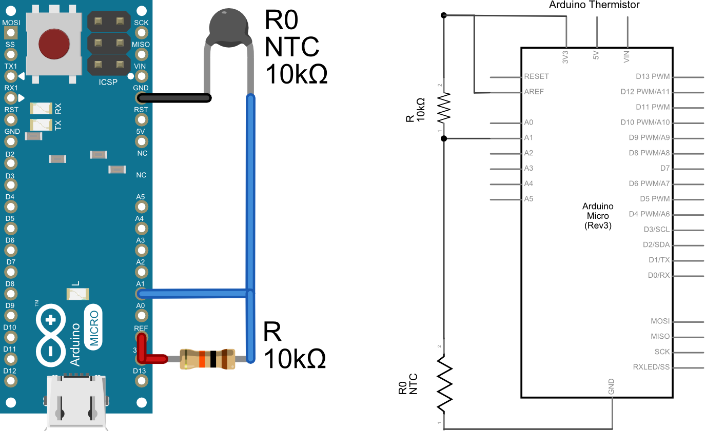 openQCM the Temperature Sensor Using a Thermistor with Arduino